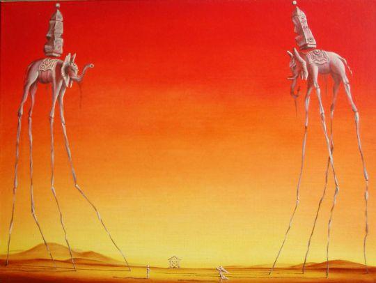 Слоны (копия С.Дали)
