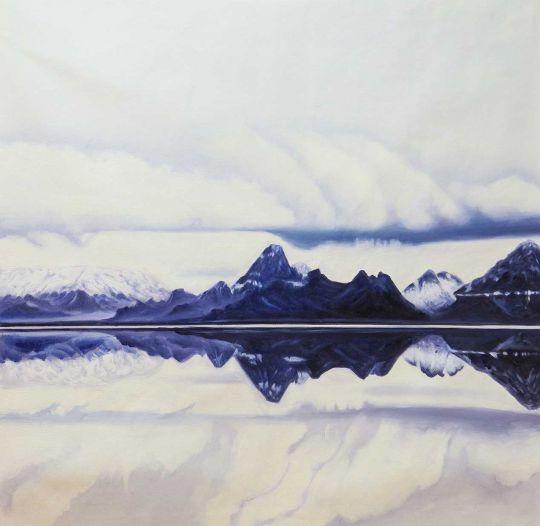 Горы, облака и отражения