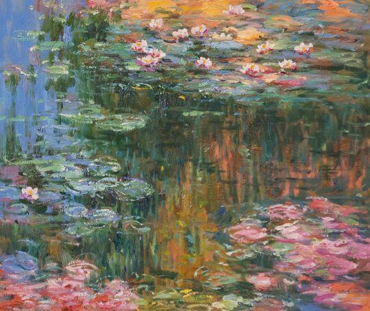 Водяные лилии, N22, копия картины Клода Моне