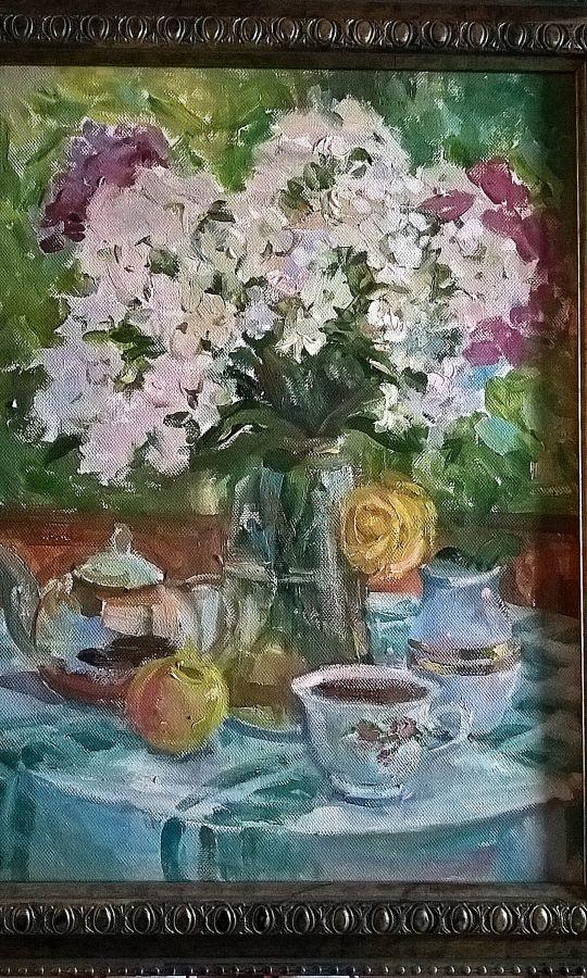 Чаепитие на веранде