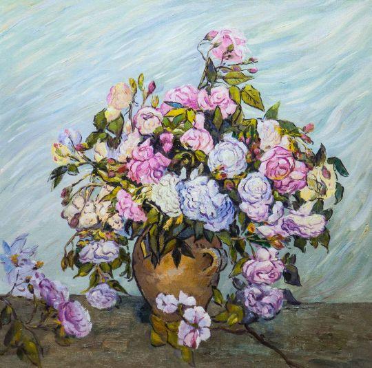 Вольная копия картины Ван Гога Розы, 1886 г