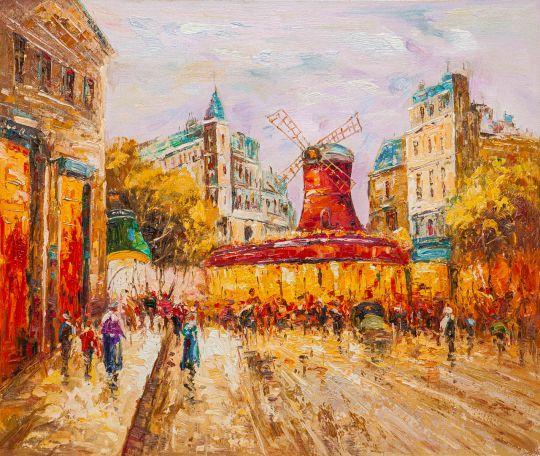Le Moulin Rouge, копия картины А.Бланашара