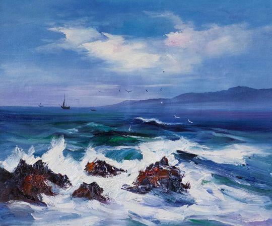 В синем море, в белой пене…
