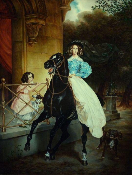 Всадница (копия Брюллова)