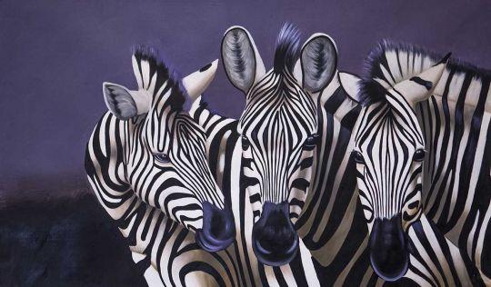 Зебры. Монохром N4