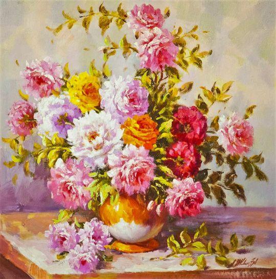 Букет с оранжевой розой. Версия AV