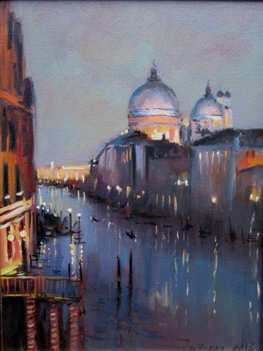 Венеция. Гранд-Канал ночью.