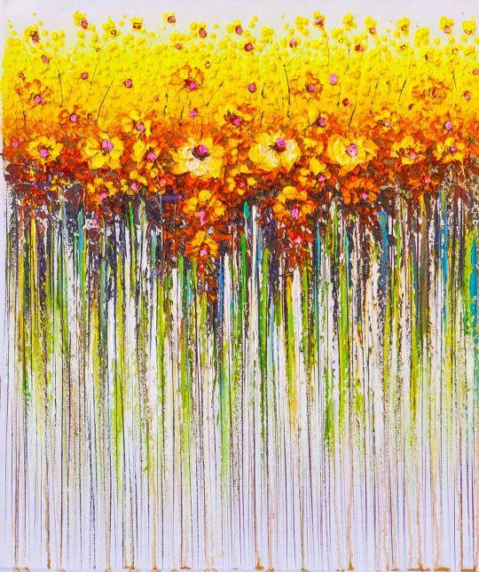 Желтые цветы. Абстракция