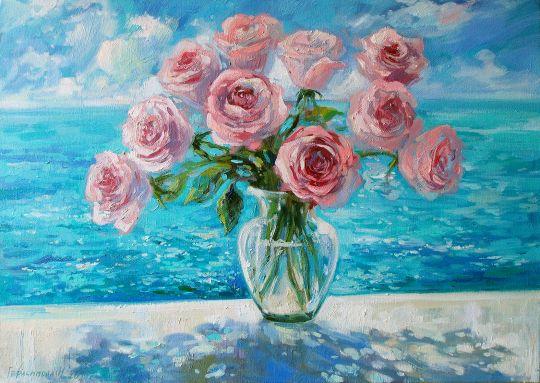 Розы и море