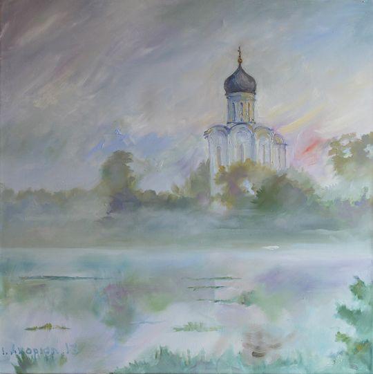 Церковь в утреннем тумане