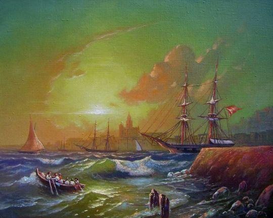 Морской пейзаж. Малага.