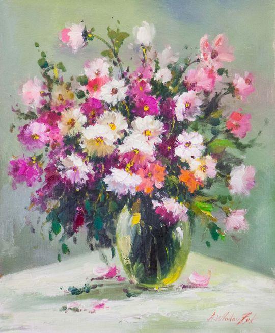 Букет полевых цветов в вазе