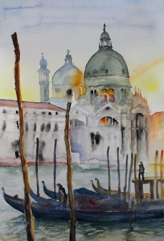 Санта Мария делла Салюте, закат