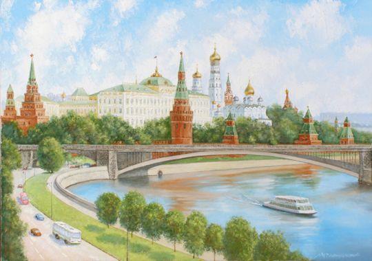 Летний день над Москвой