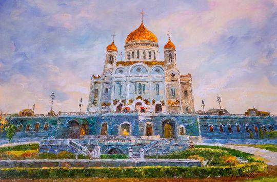Вид на Храм Христа Спасителя ранним утром