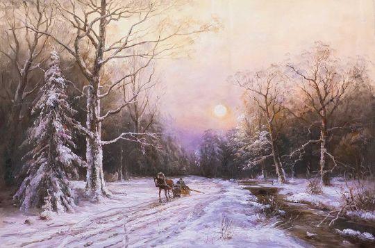 По зимней дороге вдоль незамерзающего ручья N2