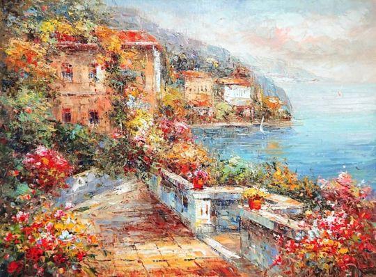Терраса с видом на море.худ.С.Минаев