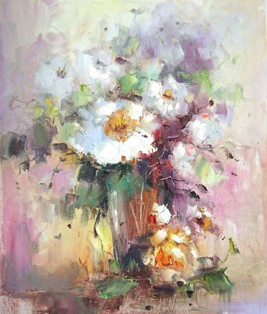 Букет нежных цветов.худ.Л.Гарсия