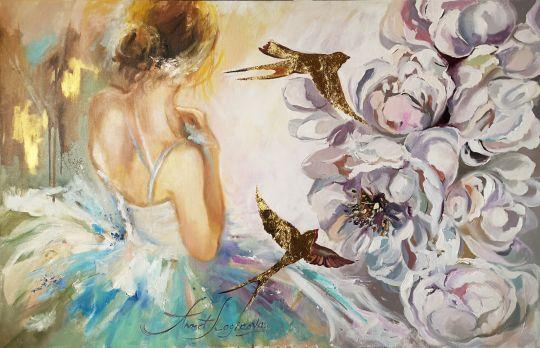 White peonies. Ballet