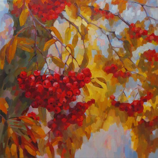 ...сквозь ветви и гроздья рябины...