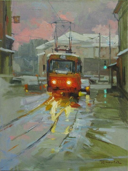 Зимний трамвайчик