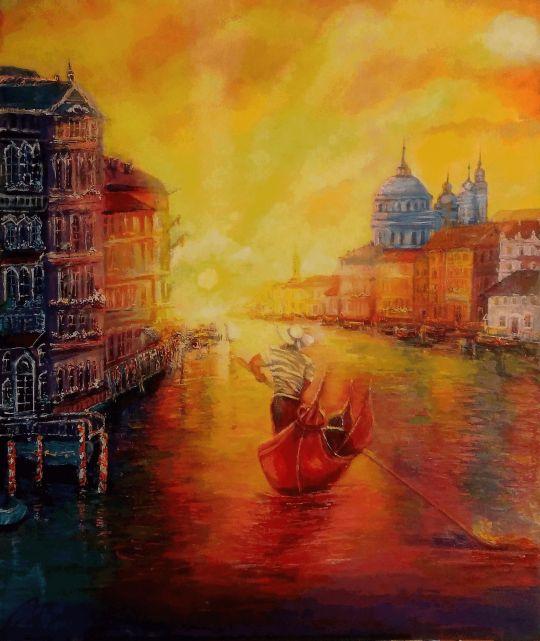 Венеция в закатных тонах