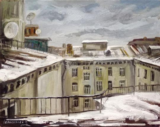 Московские крыши. Сретенский бульвар