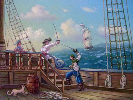 Пиратская сцена.