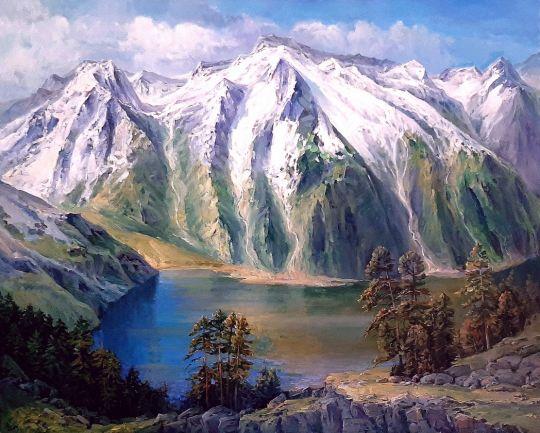 Домбай-Ульген. Горное озеро