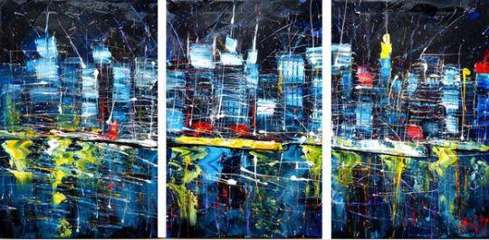 Ночной город. Триптих