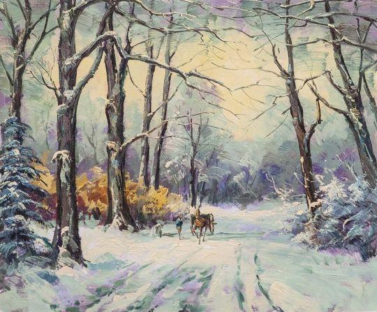 По дороге зимним днём