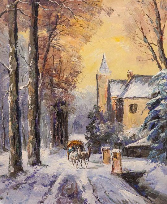 По дороге зимней, по дороге снежной