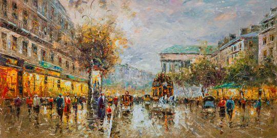 Пейзаж Парижа Антуана Бланшара. Boulevard de La Madeleine (Бульвар де ла Мадлен)