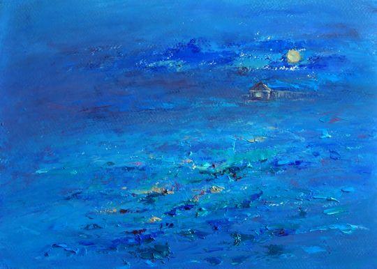 """Картина маслом """" Мои Черничные ночи"""". живопись"""