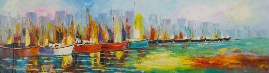 Лодки N9. Серия Морская разноцветная
