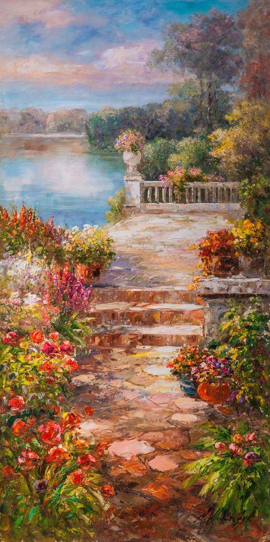 Цветущий дворик. Полдень