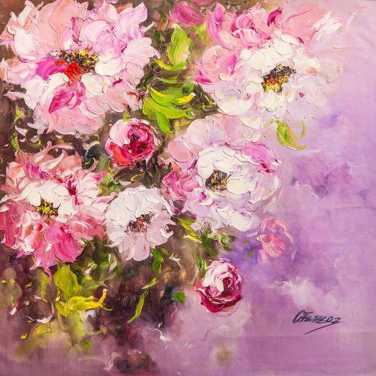 Розовые пионы. Экспрессия
