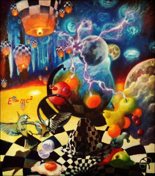 Сюрреалистичный натюрморт с глобусом или Теория относительности