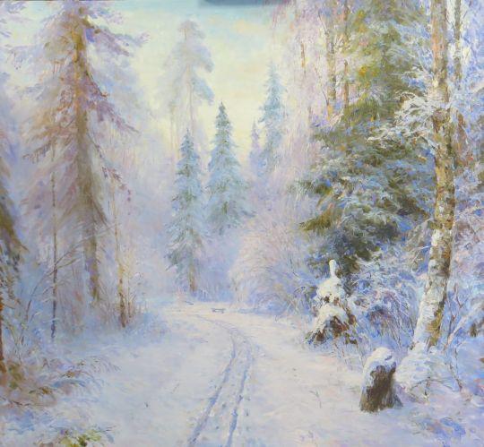 Мамонтовка .Зима