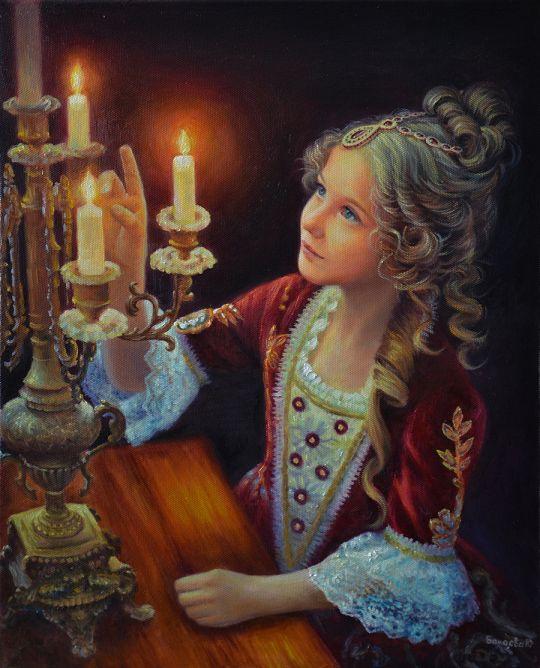 В лучах свечи