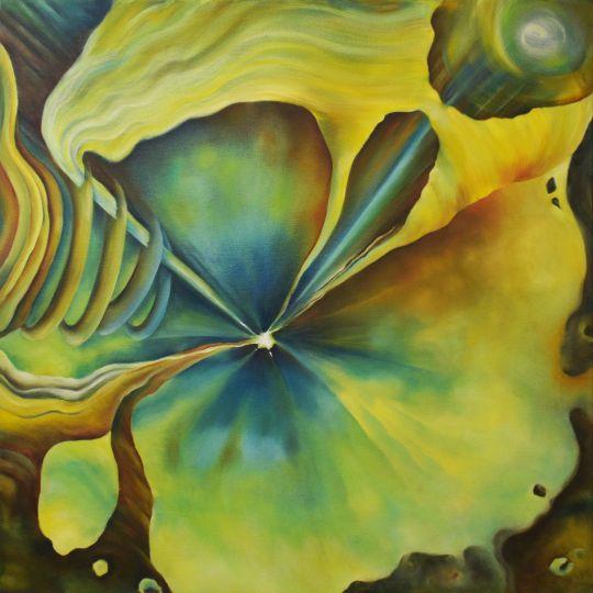 Точка космоса 76*76 cm, оригинальная картина маслом