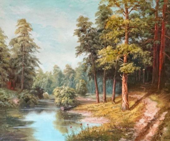 Лесное озеро.худ.Р.Смородинов