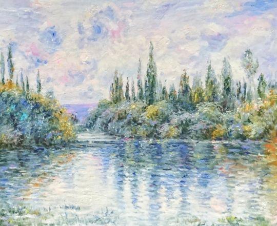 Вид на реку.копия Моне.худ.С.Минаев