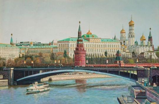 Вид на Кремль.худ.Р.Смородинов