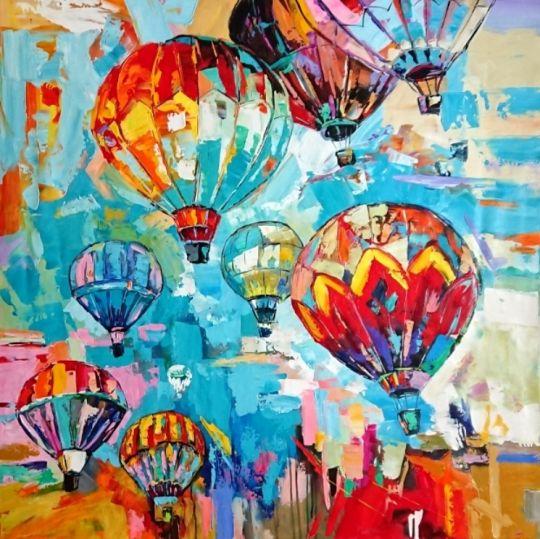 Воздушные шары.худ.Л.Гарсия
