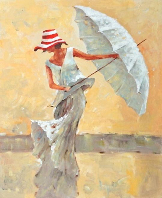 Танец с зонтиком.худ.С.Минаев