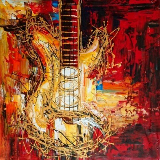 Золотая гитара.худ.Л.Гарсия