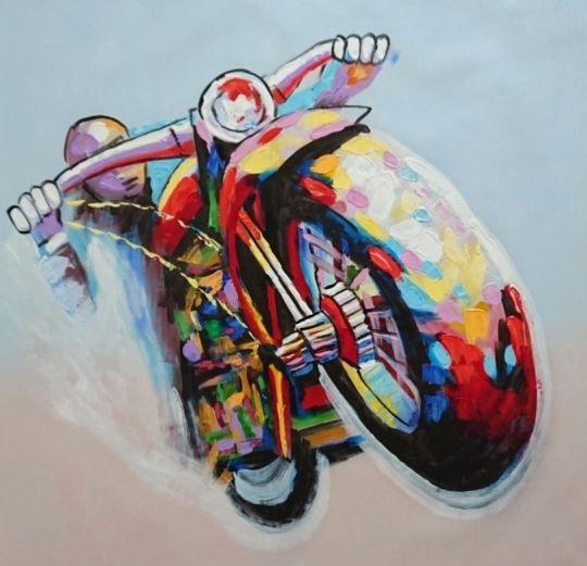 Мотоциклист.худ.Л.Гарсия