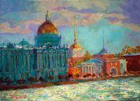 Питербург.Дворцовая набережная.