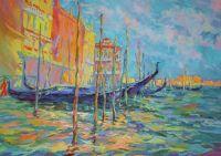Стоянка гондол.Венеция.